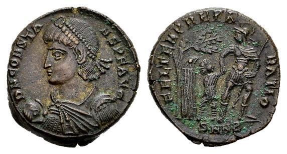 Ancient Coins - Constans AD 337-350, AE Centenionalis (19mm, 4.81 gram) Nicomedia 348-50