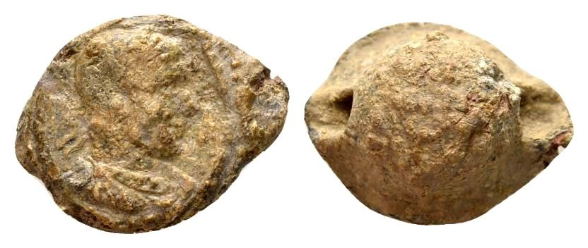 Ancient Coins - Constantine the Great AD 307-337, Lead imperial seal