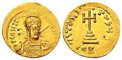 Ancient Coins - Constantine IV AD 668-685, Gold Solidus (20mm, 4.34 gram) Constantinopolis