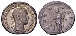 Ancient Coins - Severus Alexander AD 222-235, AR Denarius (19mm, 2.77 gram) Rome