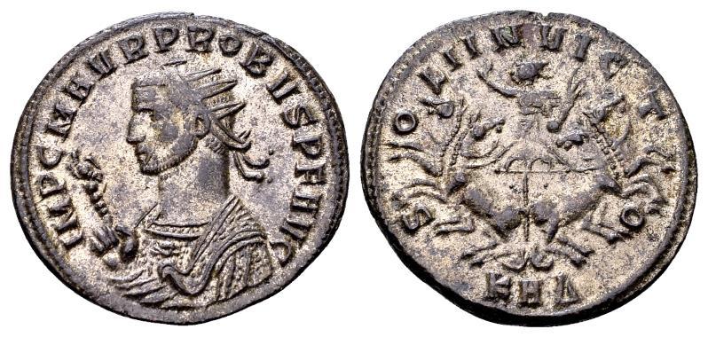 Ancient Coins - Probus 276-282 AD, AE silvered Antoninianus (22mm, 3.87 gram) Serdica