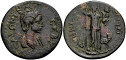 Ancient Coins - Phrygia, Synnada. Salonina, wife of Gallienus AD 253-268, AE (29mm, 10.03 gram)