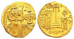 Ancient Coins - Constans II AD 641-668, Gold Solidus (20mm, 4.35 gram) Constantinopolis