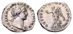 Ancient Coins - Trajan AD 98-117, AR Denarius (18mm, 3.20 gram) Rome
