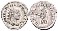 Ancient Coins - Philippus II Caesar 244-247, AR Antoninianus (21mm, 4.78 gram) Rome