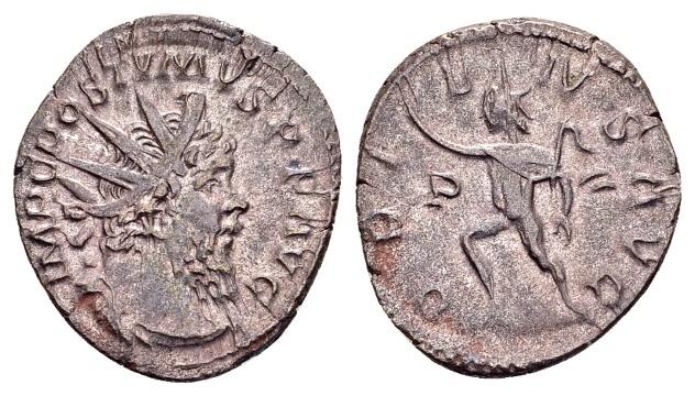 Ancient Coins - Postumus 260-269, AR Antoninianus (19mm, 2.55 g) Cologne