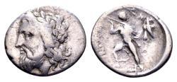 Ancient Coins - Thessaly, Ainianes. Hypata. AR Hemidrachm (17mm, 2.64 gram) c. 360-350 BC / Ex BCD