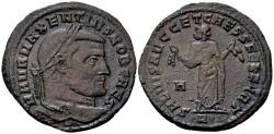 Ancient Coins - Maxentius Caesar AD 306, AE Follis (27mm, 7.60 gram) Carthage 306-307