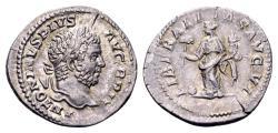 Ancient Coins - Caracalla AD 198-217, AR Denarius (20 mm, 3.12 gram) Rome 201-210