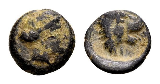 Ancient Coins - Thessaly, Pherae. AE (10mm, 1.09 gram) c. 4th century BC