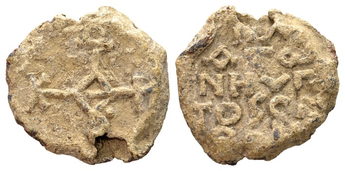 Ancient Coins - Plato, hypatos and spatharios. Byzantine lead seal 8th century AD