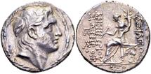 Ancient Coins - Seleucid Kingdom. Demetrios I Soter 162-150 BC, AR Tetradrachm (30mm, 16.49g) Antioch dated 152/51 BC