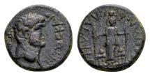 Ancient Coins - Lydia, Philadelphia. Titus Caesar AD 69-79, AE 17mm (4.51 gram)