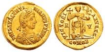 Ancient Coins - Valentinian III AD 425-455, Gold Solidus (22mm, 4.45 gram) Ravenna