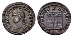 Ancient Coins - Ex col. Sternberg - Crispus Caesar 317-326. Follis (19mm, 3.67 gram) Alexandria AD 325-326