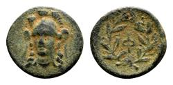 Ancient Coins - Phokis, Phokian League. AE 15mm (2.10 gram) struck under Phalaikos 351 BC and later