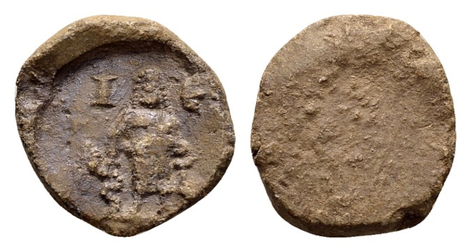 Ancient Coins - Asia Minor. Lead tessera c. 2nd-3rd century AD / Asklepios