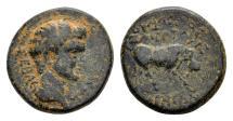 Ancient Coins - Phrygia, Eumeneia. Tiberius AD 14-37, AE 18mm (6.10 gram) Valerius Zmertorix magistrate