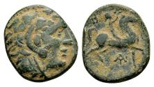 Ancient Coins - Macedonian Kingdom. Antigonos Gonatas 277-239 BC, AE (17x19 mm, 5.59 g)
