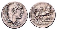 Ancient Coins - Roman Republic. L. Thorius Balbus, AR Denarius (18mm, 3.85 g) Rome 105 BC