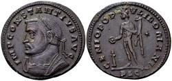 Ancient Coins - Constantius I AD 305-306, AE Follis (28mm, 9.94 gram) Lugdunum AD 305-06