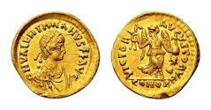 Ancient Coins - Valentinian III AD 425-455, Gold Tremissis (13,5mm, 1,44 gram) Constantinopolis