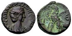 Ancient Coins - Egypt, Alexandria. Salonina, wife of Gallienus AD 253-268, AE Tetradrachm (21mm, 8.48 gram) dated year 15, 267-268