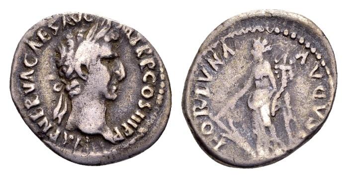 Ancient Coins - Nerva AD 96-98, AR Denarius (18mm, 2.86 g) Rome 97