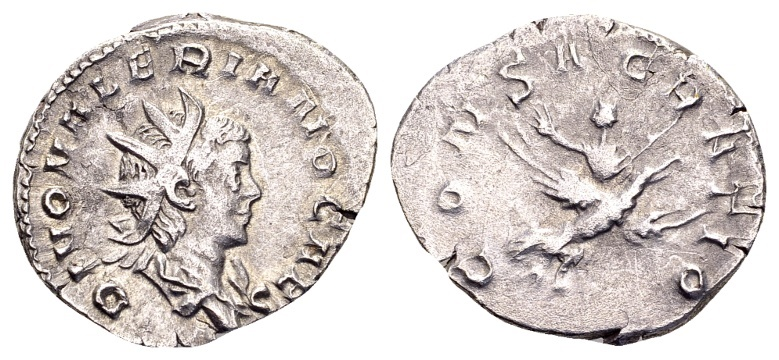Ancient Coins - Valerian II Caesar 256-258, AR Antoninianus (23mm, 3.24 g) Cologne