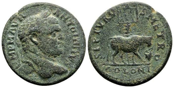 Ancient Coins - Phoenicia, Tyre. Caracalla 198-217, AE 26mm (10.38 g)