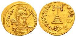 Ancient Coins - Constantine IV AD 668-685, Gold Solidus (19mm, 4.43 gram) Constantinopolis