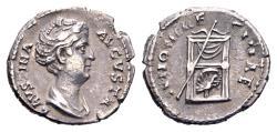 Ancient Coins - Faustina Senior, wife of Antoninus Pius 138-161, AR Denarius (19 mm, 3.38 g) Rome