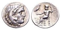 Ancient Coins - Macedonian Kingdom. Philippos III 323-316 BC, AR Drachm (17mm, 4.23 g) Sardeis 323-319 BC