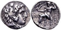 Ancient Coins - Seleucid Kingdom. Seleukos I Nikator 312-281 BC, AR Tetradrachm (27mm, 16.04g) Seleukeia on the Tigris mint circa 300-295/6 BC