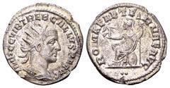 Ancient Coins - Trebonianus Gallus 251-253 AD, AR Antoninianus (21mm, 3.32 gram) Antioch, first group 251-2, 2nd officina