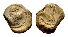 Ancient Coins - Constantius II 337-361 (?). Roman imperial seal (13x15x5 mm, 4.39 gram)