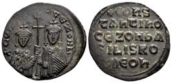Ancient Coins - Constantine VII AD 913-959, with Zoe, AE Follis (27mm, 5.82 g) Constantinopolis