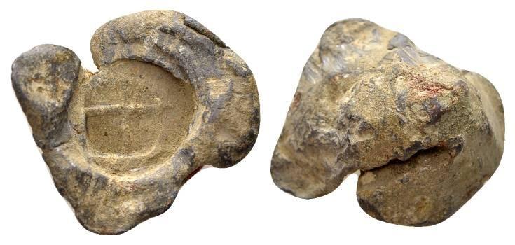 Ancient Coins - Roman lead seal c. 3rd/4th century AD / Cross