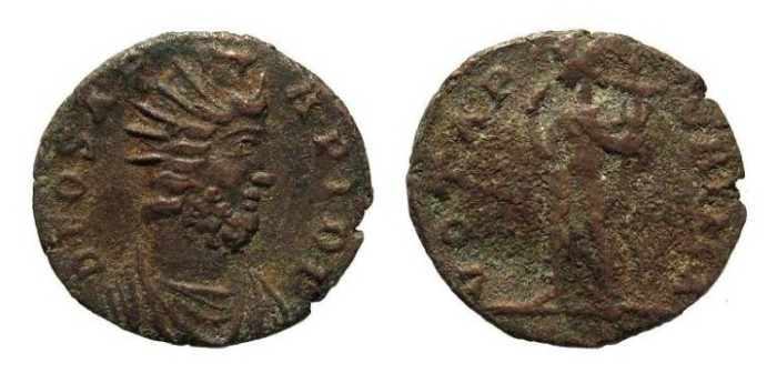 Ancient Coins - Festival of Isis coinage, c. mid 4th century AD. AE 17mm / Serapis and Harpocrates