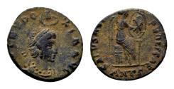 Ancient Coins - Eudoxia, wife of Arcadius, died 404, AE (16mm, 1.92 gram) Antioch 395-401