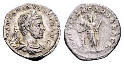Ancient Coins - Elagabalus AD 218-222, AR Denarius (19mm, 3.09 gram) Rome 220-222