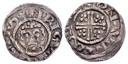 "World Coins - British. Richard I ""the Lionheart"" AD 1189-1199, AR Penny (19mm, 1.28 gram) Winchester,  in the name of Henry II. Osbern, moneyer"