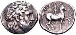 Ancient Coins - Macedonian Kingdom. Philippos II 359-336, AR Tetradrachm (27mm, 14.14 gram) Pella, struck posthumously under Philippos III, 323-315 BC