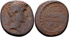Ancient Coins - Syria, Antioch. Augustus 27 BC-14 AD, AE (25x27mm, 13.98 gram) dated Actian Era year 29, 3/2 BC