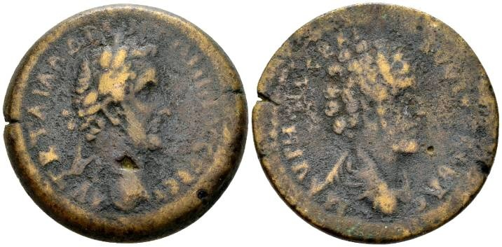 Ancient Coins - Cyprus, Koinon of Cyprus. Antoninus Pius AD 138-161, with Marcus Aurelius as Caesar, AE 33mm (24.96g)