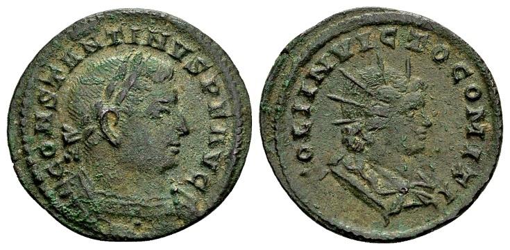 Ancient Coins - Constantine the Great AD 307-337, AE Follis Trier / Ex Lückger