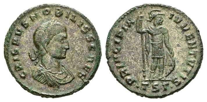 Ancient Coins - Crispus Caesar AD 317-326, AE silvered Follis (21mm, 3.37 g) Thessalonica 317-318