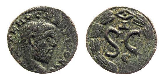 Ancient Coins - Syria, Antioch. Macrinus AD 217-218, AE 18.3mm (3.72g)