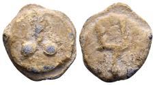 Ancient Coins - Roman lead Tessera (15mm, 4.69 gram) c. 1st century AD
