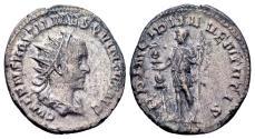 Ancient Coins - Hostilian Caesar AD 251, AR Antoninianus (20mm, 3.61 gram) Rome